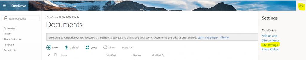SharePoint Vs OneDrive interface